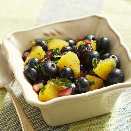 Blueberry-Balsamic Salsa: Blueberries, oranges and mint lend a fresh ...