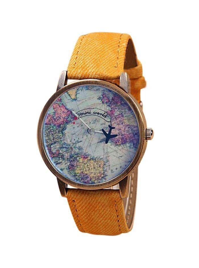 Haritalı Uçaklı Saat