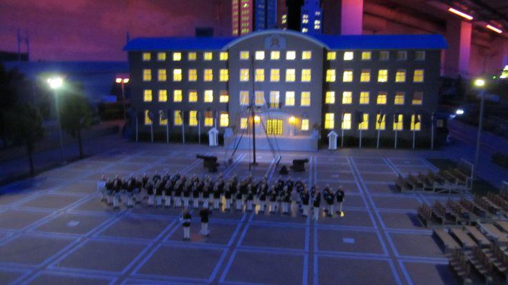 van Ghent kazerne nacht lichtjes mariniers korps http://www.miniworldrotterdam.com/