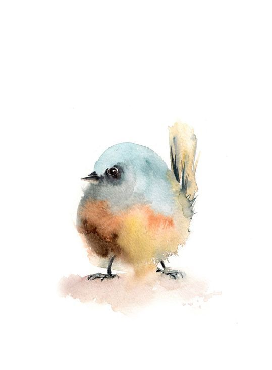 Buy Little Bird, Watercolor by Sophie Rodionov on Artfinder. Discover thousands of other original paintings, prints, sculptures and photography from independent artists.