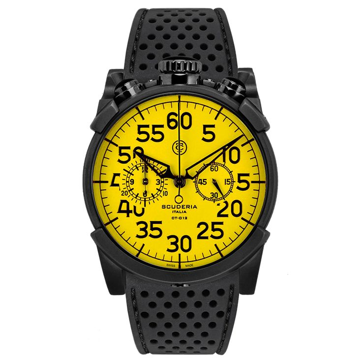 CS10145 | Black IP Stainless Steel and Perforated Black Silicon Strap