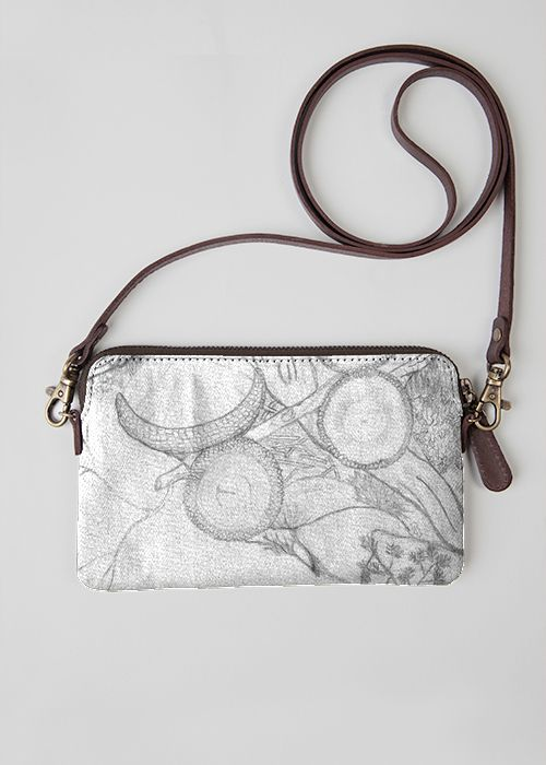 VIDA Leather Statement Clutch - VERY FAIRY X by VIDA fkIVNN