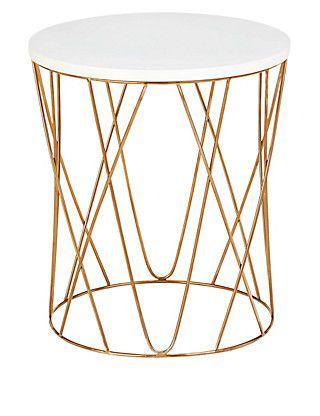 Lena Copper Side Table   M&S