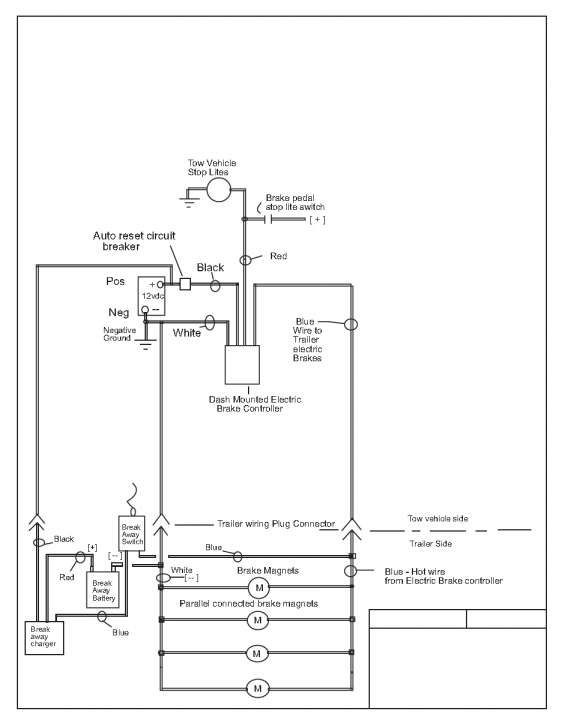 16 electric trailer brake controller wiring diagram
