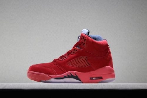 Best Price Kids Air Jordan 5 Retro Red Suede University Red Black Free  Shipping For Sale - ishoesdesign 93254de88