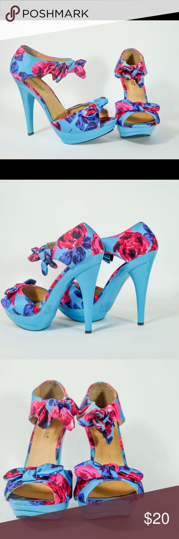 Shoedazzle Floral Pumps kb Shoe Dazzle Shoes Heels