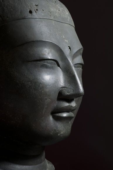 National Treasure of Japan, Bronze Head of Buddha: enshrined in Kofuku-ji Temple, Nara, Hakuho period (673-686) 国宝『銅造仏頭』 白鳳時代 興福寺蔵