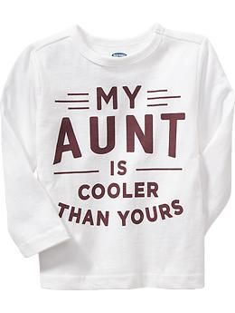 Cool Aunt Graphic Tee for Baby