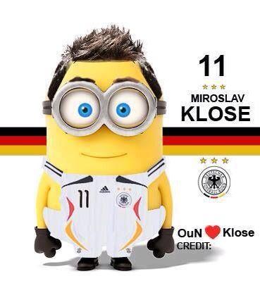 Miro Klose minions by minionfootballclubofficial