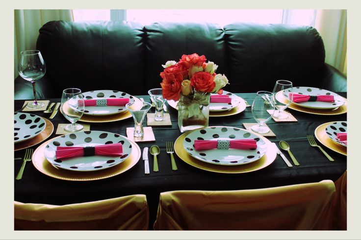 Kate Spade inspired place settings :)