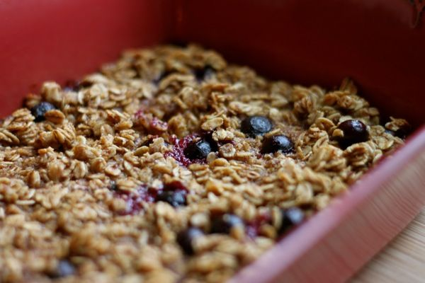 Baked Maple, Baked Oatmeal, Breakfast, Blueberry Oats, Baked Blueberry ...