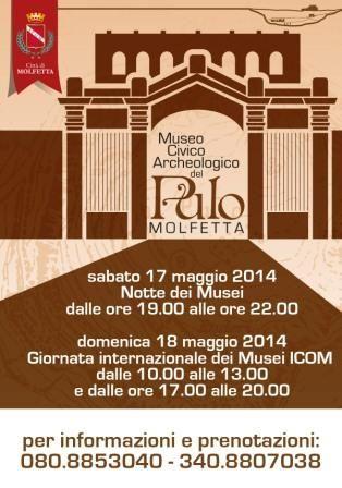 Metti una sera al Museo: visite guidate al Museo Civico Archeologico del Pulo di Molfetta #ndm14 #ndm14italia #bari
