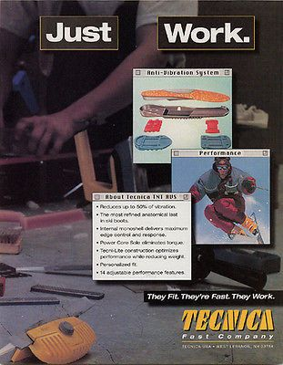 Tecnica Ski Boot 1996 Ad Just Work Skiing