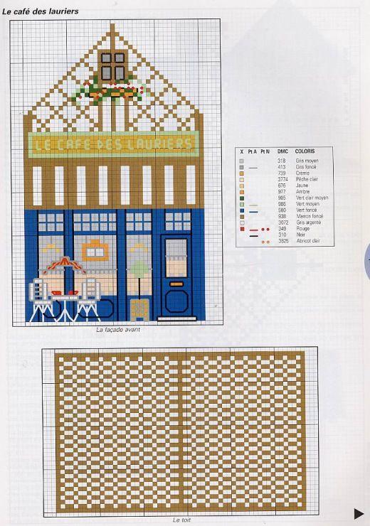 62 best Maison, cottages images on Pinterest Punto croce - plan maison 3d gratuit
