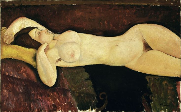 Modigliani's Reclining Nude (1919). Museum of Modern Art, New York. Tate Modern in London has assembled the largest group of nudes by Amedeo Modiglian ever to be united in the UK.