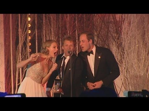 Prince William sings Livin' on a Prayer with Taylor Swift and Bon Jovi