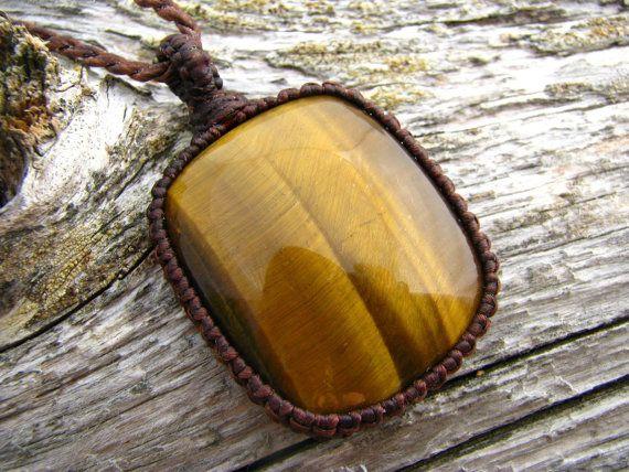 Tiger's Eye Necklace / Tigers Eye Jewelry / by EarthAuraCreations, $52.25
