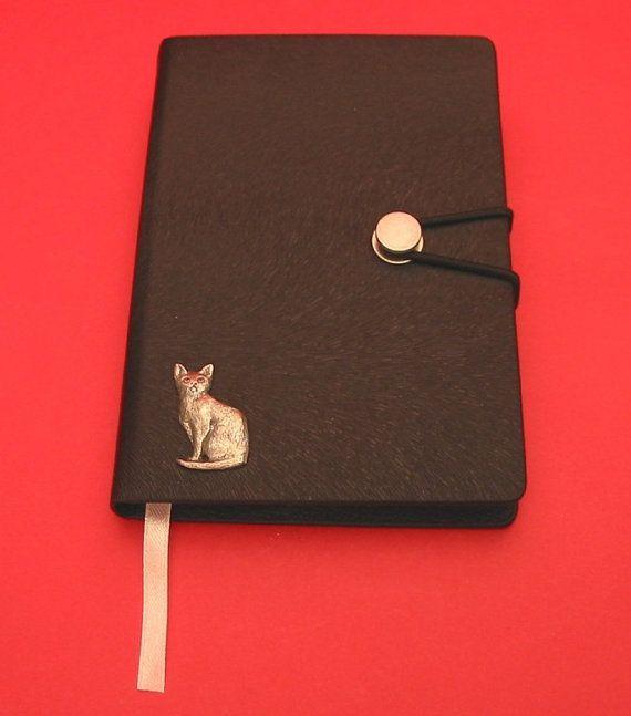 Short Hair Cat Hand Cast Pewter Motif on A6 by ThimblesnObjectDart