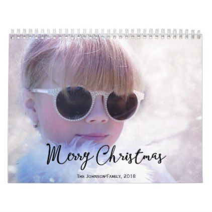 Personalized Calendars 2018 Merry Christmas - merry christmas diy xmas present gift idea family holidays
