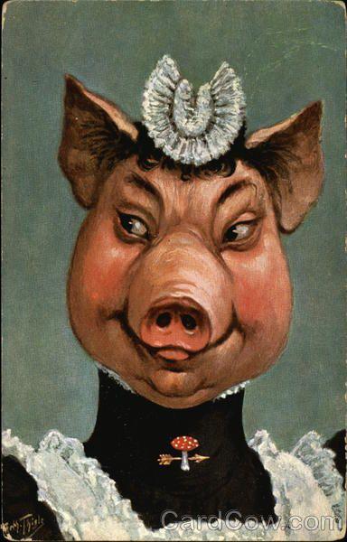 Pig in Maid Uniform by Arthur Thiele
