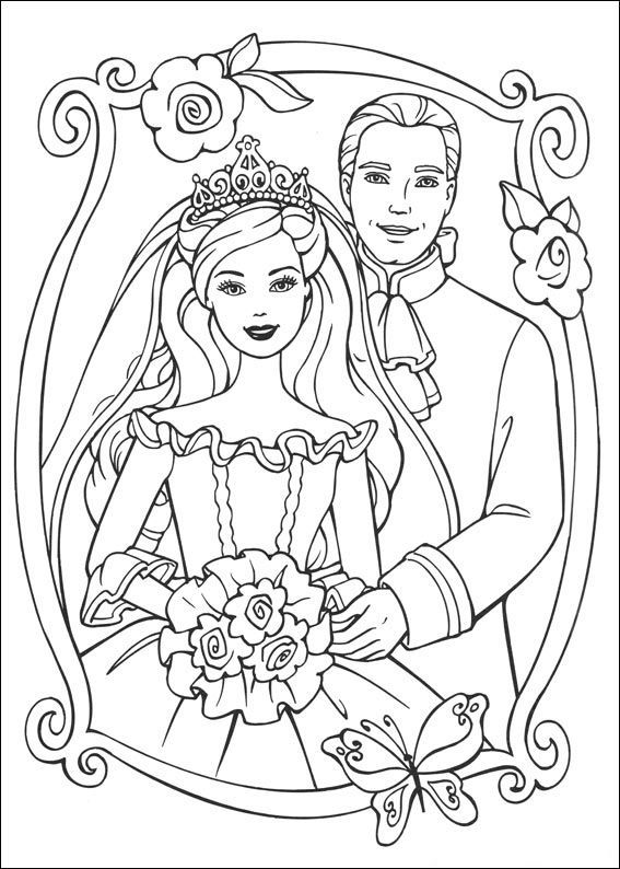 Barbie Princess Coloring Pages With Images Princess Coloring