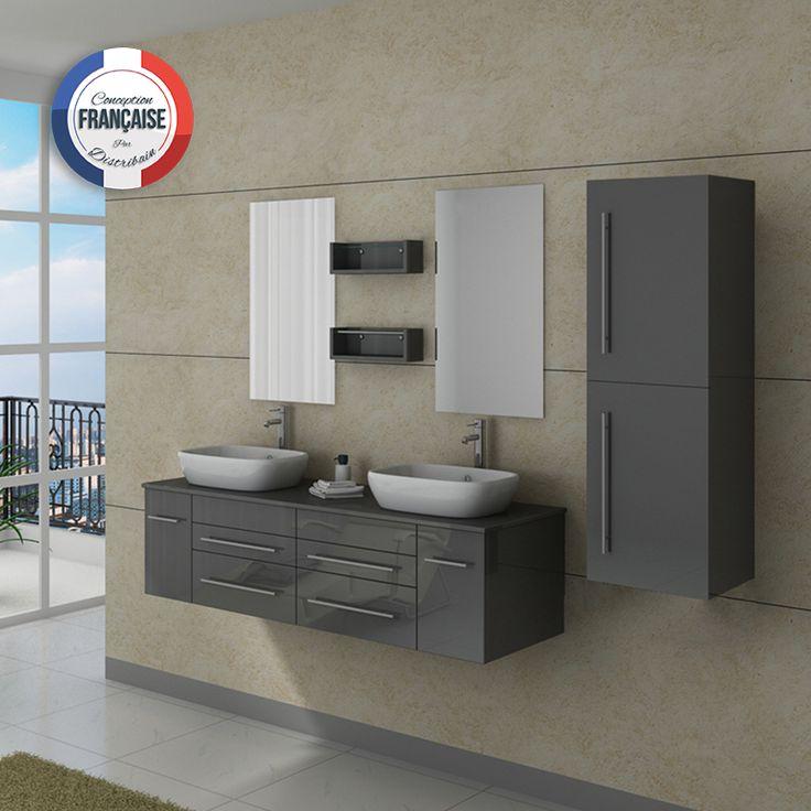 31 best wc images on Pinterest Bathroom, Grey feature wall and Coins - petit meuble salle de bain pas cher