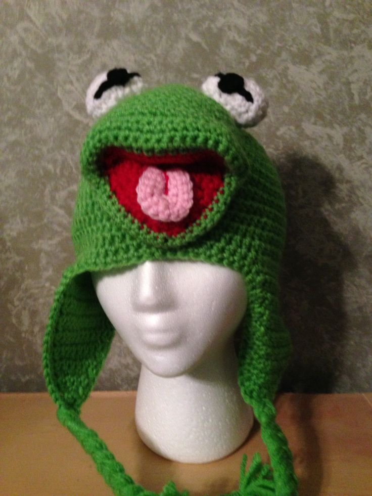 Free Crochet Pattern For Kermit The Frog Hat : Kermit D Frog Crochet Projects Pinterest Kermit ...