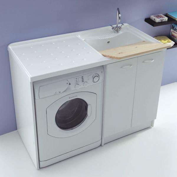 Mobile lavanderia portalavatrice 107x61 Lady 3 ante con vasca lavapanni
