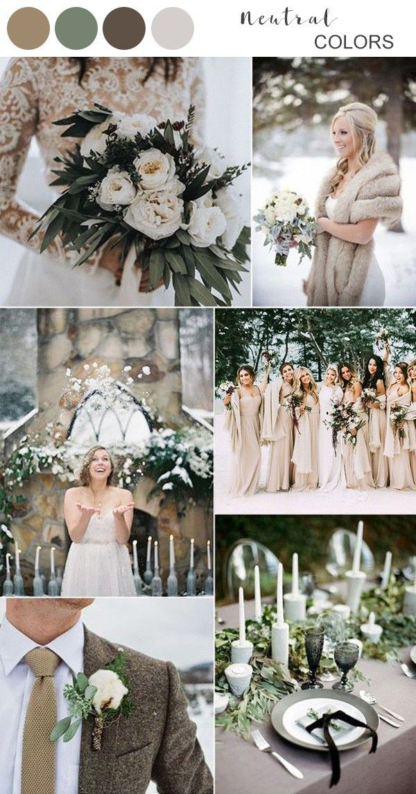Top 10 Winter Wedding Color Ideas For 2019 Rustic Winter Wedding