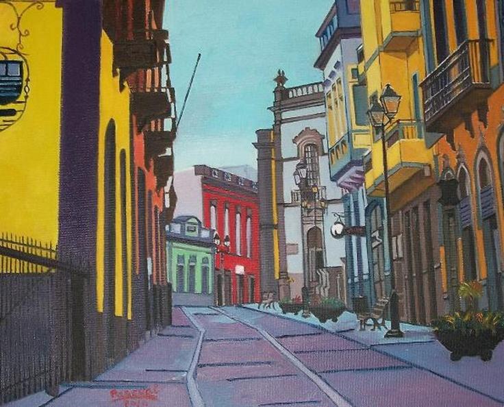 Titulo: Arucas (Gran Canaria), óleo sobre tabla, 41 x 33.
