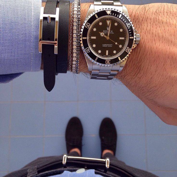 rolex submariner no date on wrist