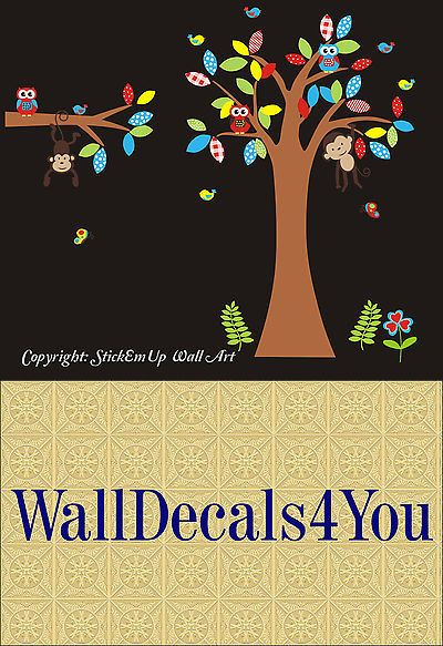 Wall Decals and Vinyl Art 180505: Forest Wall Decals - Large Tree Decal - Nursery Wall Decal - Kids Room Stickers -> BUY IT NOW ONLY: $164.95 on eBay!