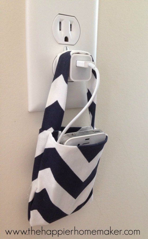 Crafts to Make and Sell - Easy DIY No Sew Phone Charging Pouch - Cool and Cheap Craft Projects and DIY Ideas for Teens and Adults to Make…