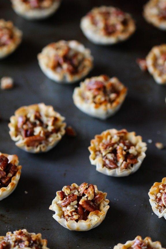 Easy Mini Pecan Tarts -- a fabulous, delicious alternative to pecan pie!   gimmesomeoven.com