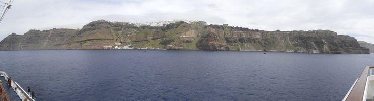 Santorini desde el barco. Abril 2013