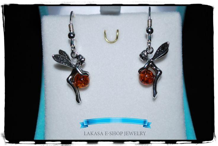 #silver #earrings #Fairy #jewelry #woman Κρεμαστά Σκουλαρίκια Νεράιδες Ασήμι 925 Κόσμημα με Κεχριμπάρι Fairy Earrings Silver 925 with Amber Τιμή / Price: 34 euros Διαστάσεις / Dimensions: 35 x 15 mm (each) Κωδικός / Code: EFairy email:design.lakasa@gmail.com https://lakasaeshop.wordpress.com/