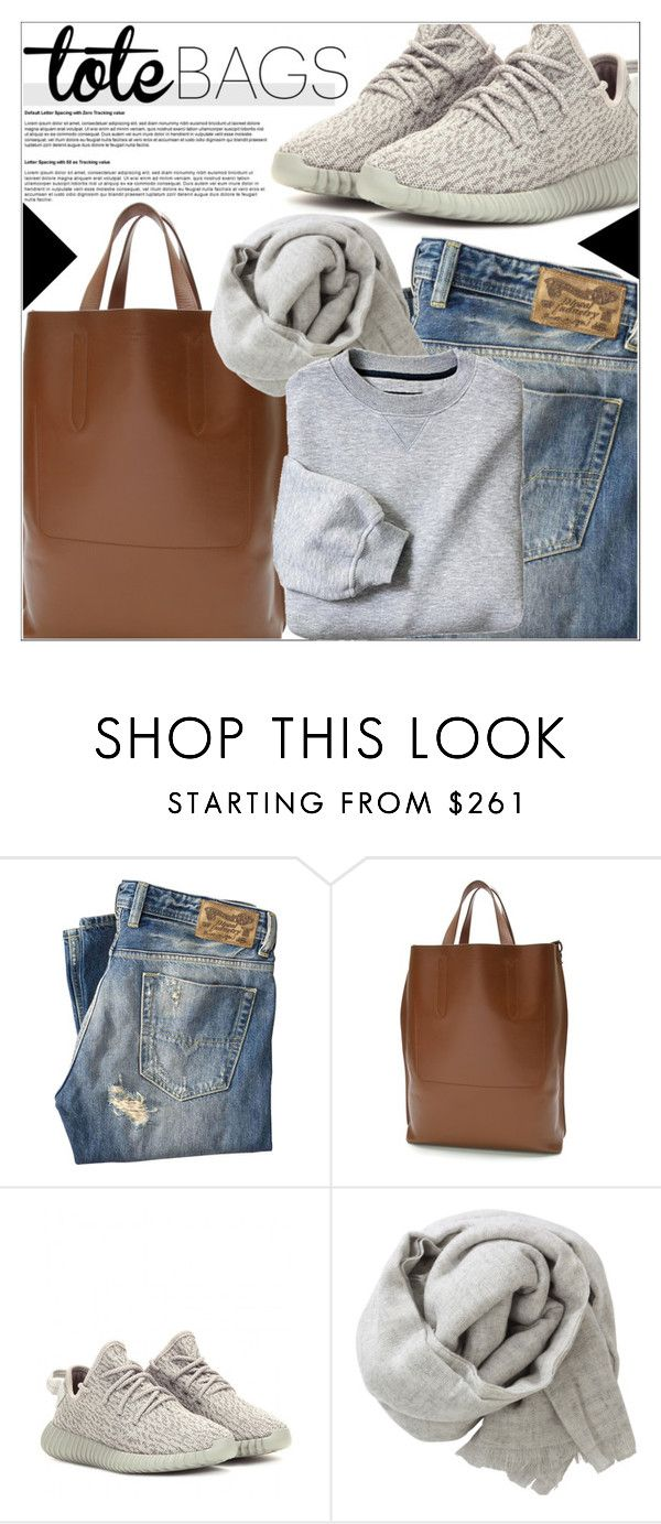 """Tote Bags"" by martso ❤ liked on Polyvore featuring Diesel, Louis Vuitton, adidas Originals, Brunello Cucinelli, women's clothing, women, female, woman, misses and juniors"