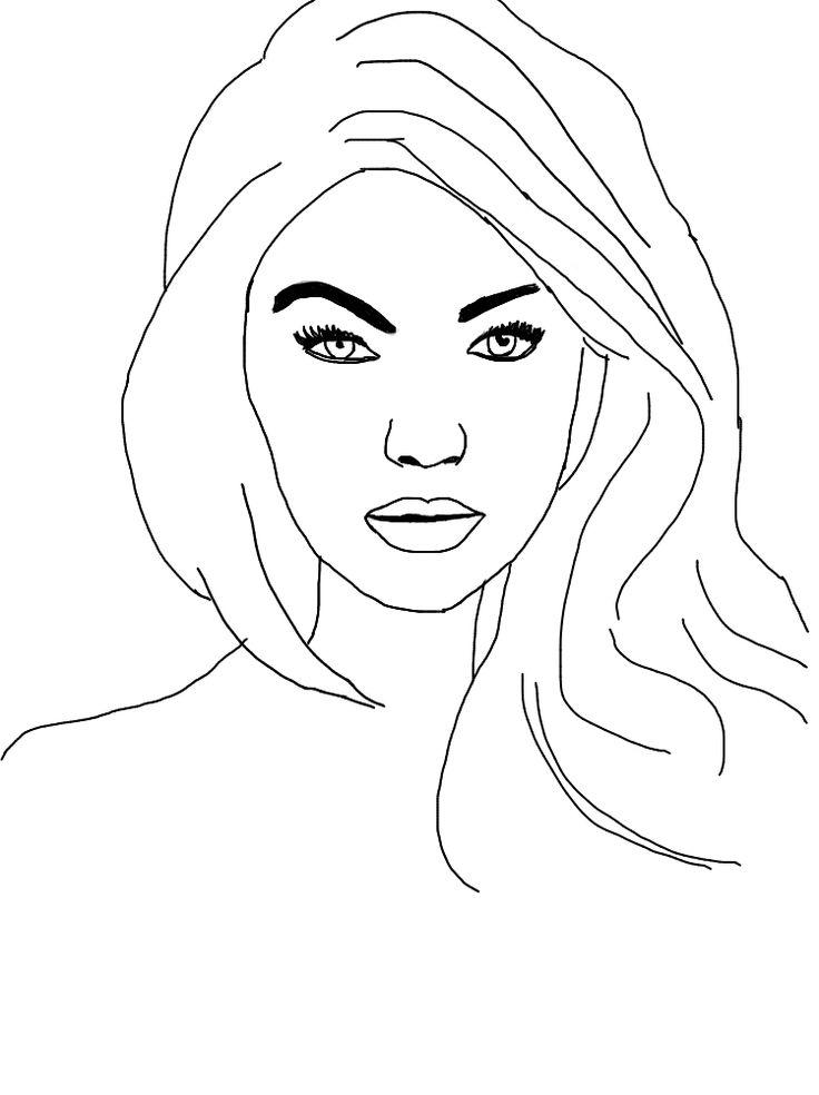 Outlines Gigi Hadid (fatto molto in fretta ahah)