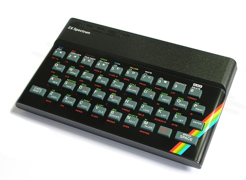it's hard to explain how 'fun' this looked when  it first came out. The 48k Sinclair Spectrum. Who ever thought rubber keys was a good idea though ?