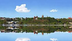 Płock - the Tumskie Hill over the Vistula River