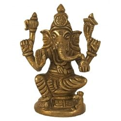 Buy #BrassLordSittingGanesha at Puja Shoppe. In this beautiful piece of rare art, Lord Ganesha depicts seated and offering blessings. The idol has been designed by artisans of Arghyam exclusively for PujaShoppe.com which reflects exemplary craftsmanship.