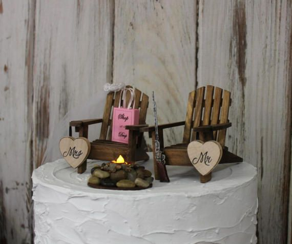 Hunting Cake Topper Bow Camping Hunter By Sugarplumcottage CakesBow HuntingAdirondack ChairsWedding ToppersWedding