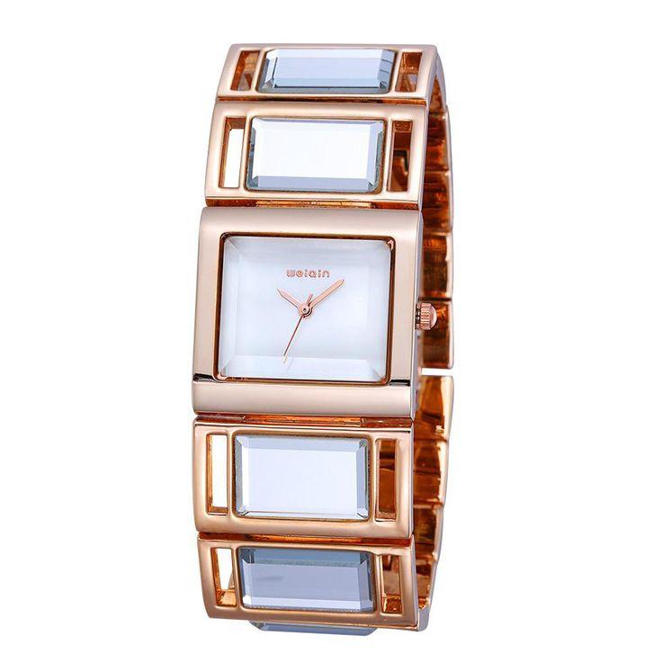 Luxury Hardlex Gold Mirror Strap Women's Bracelet Watches
