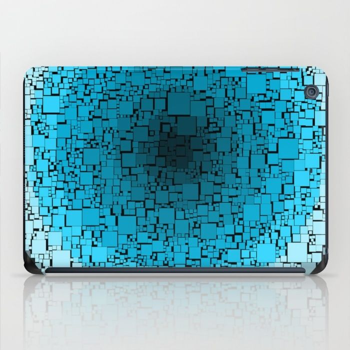 blue blocks iPad Case
