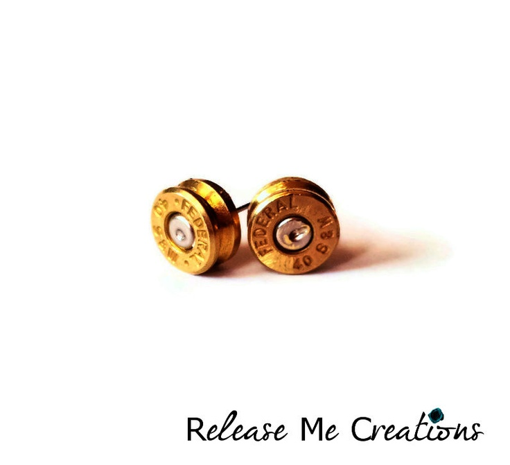 Federal Smith and Wesson Bullet Stud Earrings - Release Me Creations