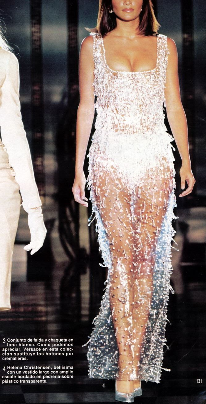Helena Christensen for Atelier Versace Haute Couture / Fall 1995