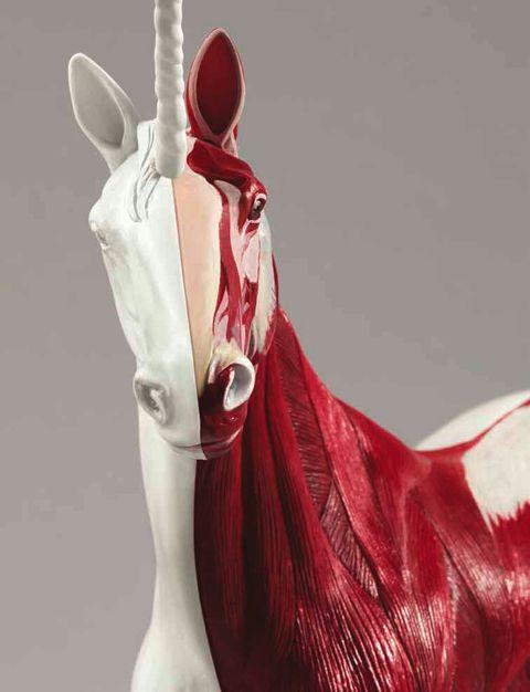 Sculpture byDamien Hirst.