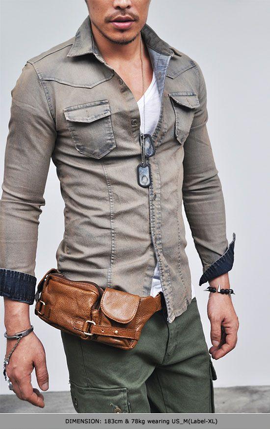 Tops :: Shirts :: Real Vintage Snug Span Denim-Shirt 66 - Mens