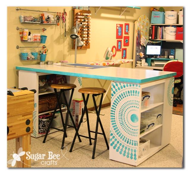 craft room desk - all the details