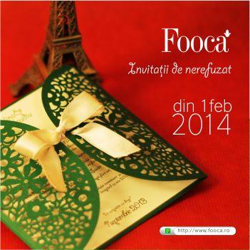 Fooca este magazinul potrivit pentru domnisoarele care isi doresc cele mai frumoase invitatii de nunta, cu toate accesoriile necesare, de la plicuri la meniuri, create din cele mai bune materiale.